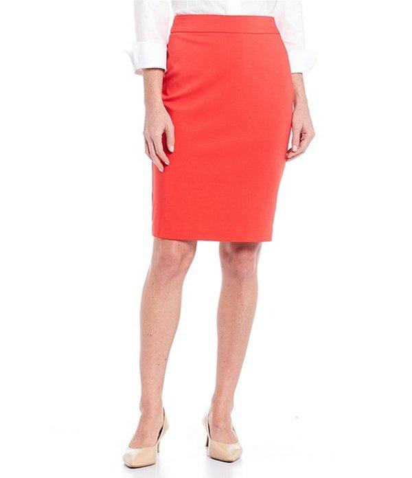 インベストメンツ レディース スカート ボトムス Elite Stretch Back Zip Pencil Skirt Poppy Red