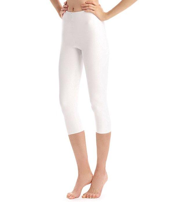 コマンドー レディース カジュアルパンツ ボトムス Faux Leather Capri Leggings White