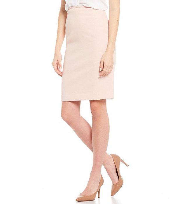 カルバンクライン レディース スカート ボトムス Petite Size Stretch Textured Suiting Pencil Skirt Rose