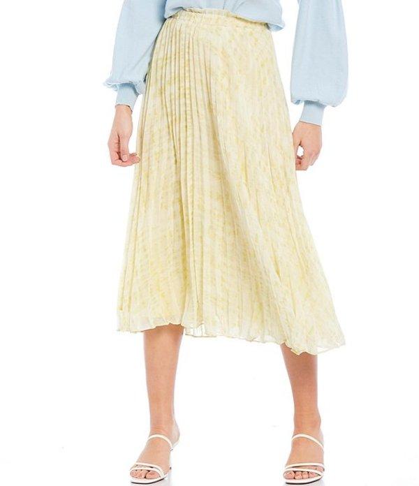 ルーシーパリ レディース スカート ボトムス Skyler Pleated Midi Skirt Yellow