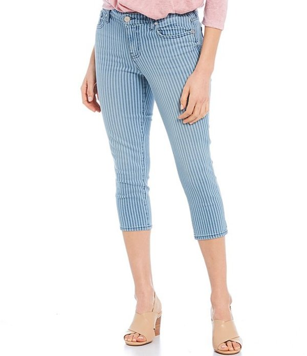 コード ブルー レディース デニムパンツ ボトムス Petite Size Railroad Stripe Classic Capri Jeans Ascend Railroad Stripe