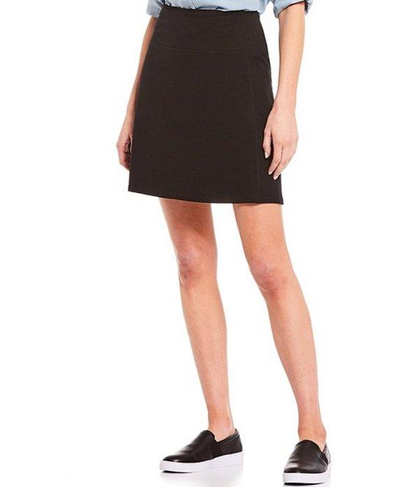 イントロ レディース ハーフパンツ・ショーツ ボトムス Petite Size Cellie Love the Fit Cotton Blend Skort Ebony Black