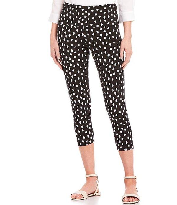 イントロ レディース カジュアルパンツ ボトムス Love the Fit Dalmatian Print Capri Leggings Ebony Black Dalmatian