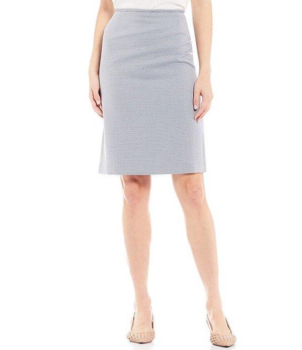 プレストンアンドヨーク レディース スカート ボトムス Kelly Stripe Pencil Skirt Navy/Ivory
