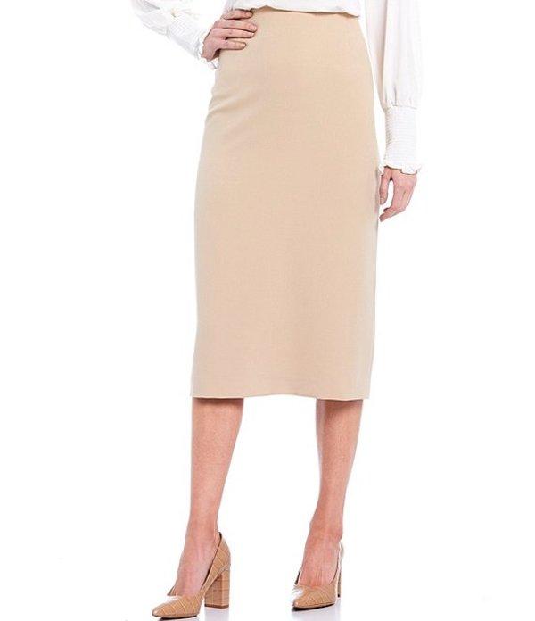 プレストンアンドヨーク レディース スカート ボトムス Taylor Stretch Crepe Suiting Midi Pencil Skirt Khaki