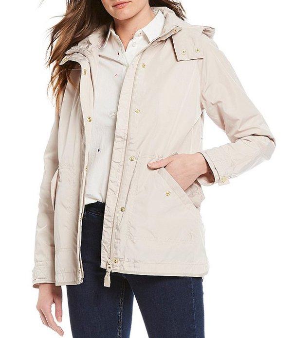 ジュールズ レディース ジャケット・ブルゾン アウター Swindale Long Sleeve Water Resistant Hooded Rain Jacket Ivory