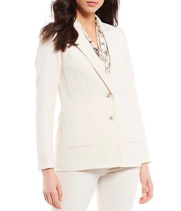 カール ラガーフェルド レディース ジャケット・ブルゾン アウター Notch Collar Long Sleeve Patch Pocket Blazer Cream