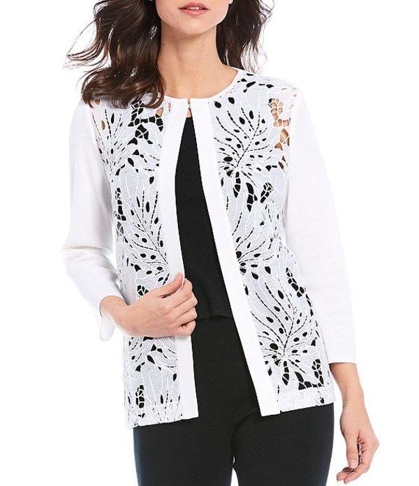 ミンウォン レディース ジャケット・ブルゾン アウター Bracelet Sleeve Lace Pointelle Jacket White