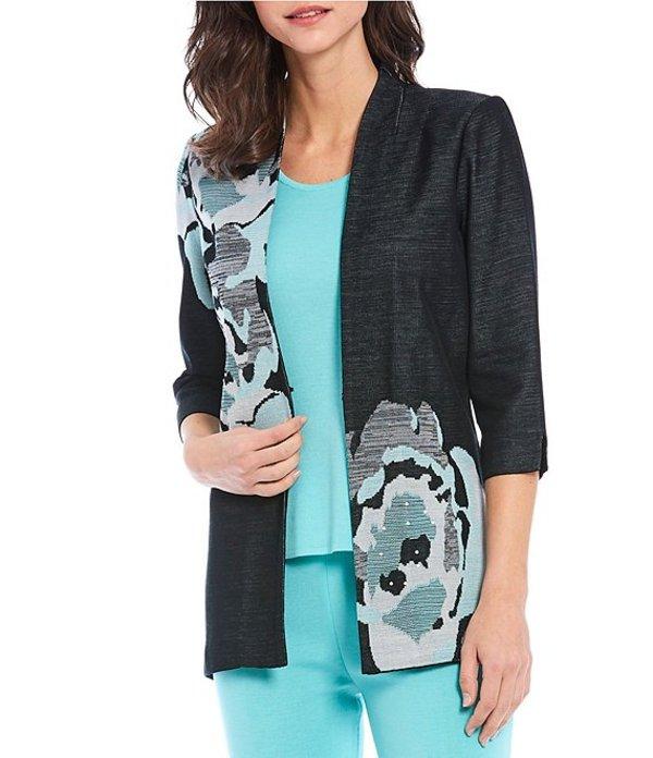ミンウォン レディース ジャケット・ブルゾン アウター 3/4 Sleeve Floral Jacquard Jacket Black/Multi