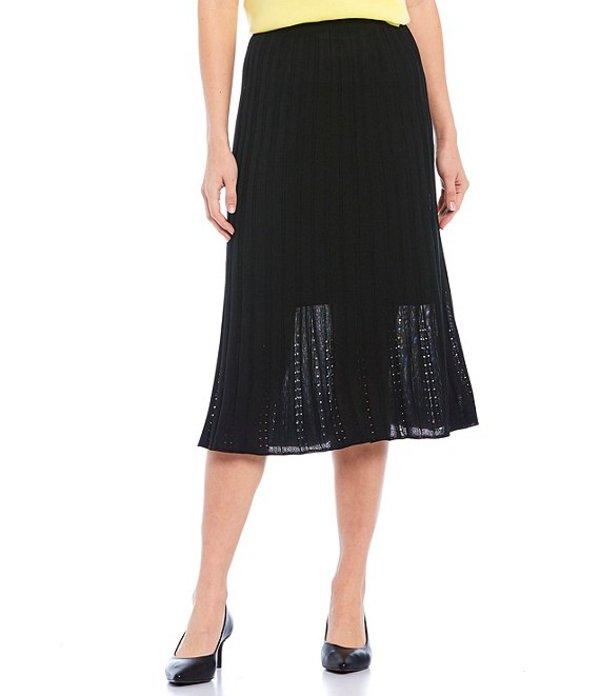 ミンウォン レディース スカート ボトムス Pleated Midi Skirt Black