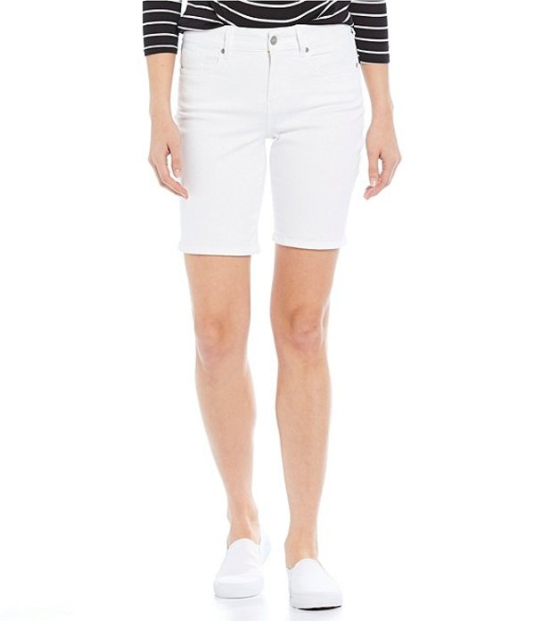 エヌワイディージェイ レディース ハーフパンツ・ショーツ ボトムス Ella Bermuda Shorts Optic White