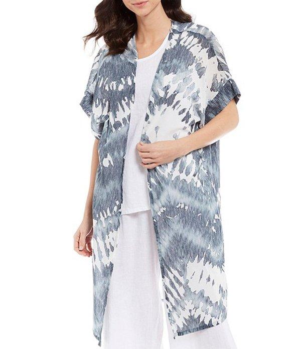 ブライン ウォーカー レディース ジャケット・ブルゾン アウター Ezra Malta Tie-Dye Gauze Cotton Short Sleeve Open Front Cardigan Wave