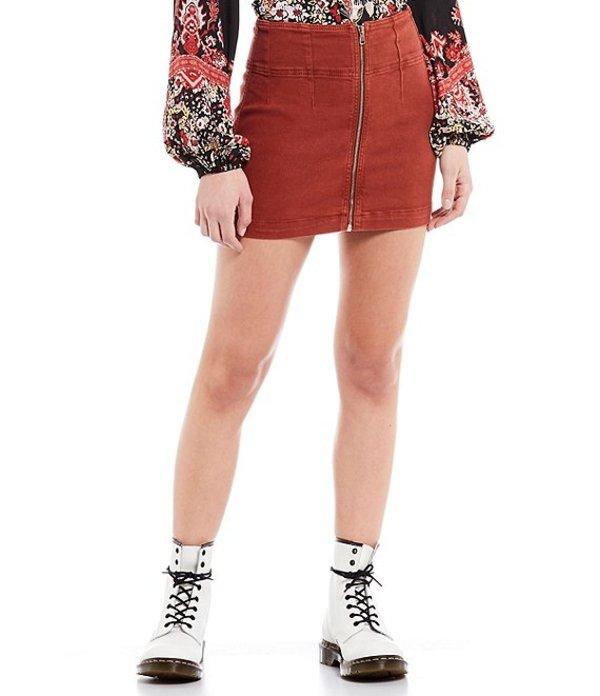 フリーピープル レディース スカート ボトムス Virgo Zip Front Mini Skirt Primrose