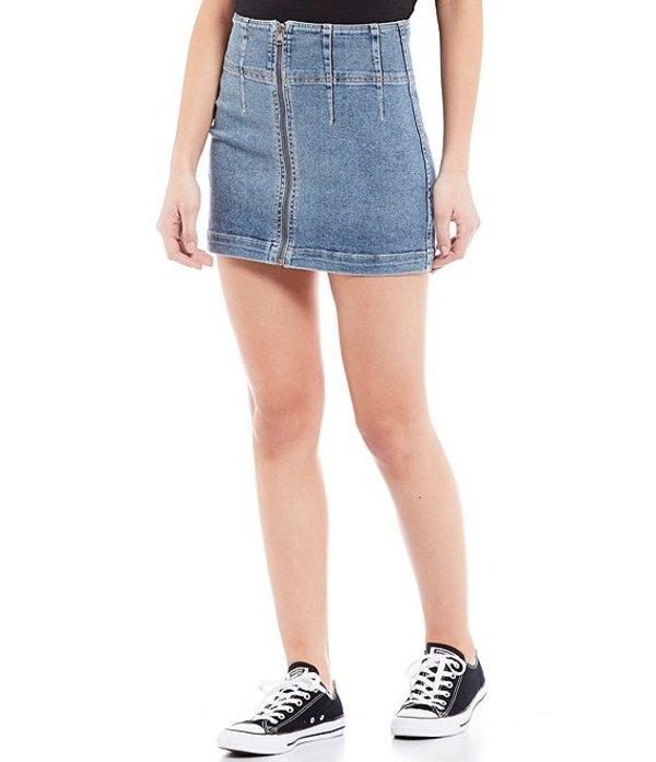 フリーピープル レディース スカート ボトムス Virgo Zip Front Mini Skirt Sierra Wash