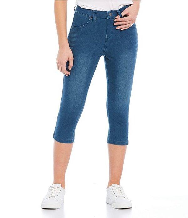 ヒュー レディース カジュアルパンツ ボトムス Ultra Soft Denim High Waist Short Capri Leggings Windsor Blue