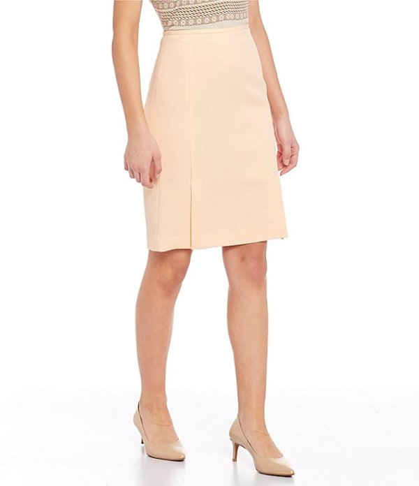 カルバンクライン レディース スカート ボトムス Stretch Twill Suiting Side Front Slit Pencil Skirt Papaya/White