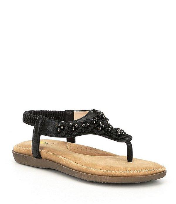 ボラティル レディース サンダル シューズ Joyous Floral Embellished Sandals Black