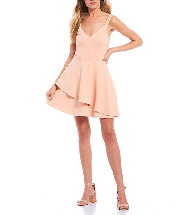 ティーズミー レディース ワンピース トップス V-Neck Double-Hem Fit & Flare Dress Blush