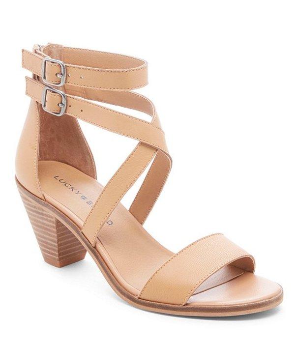 ラッキーブランド レディース サンダル シューズ Ressia Leather Cone Heel Sandals Desert