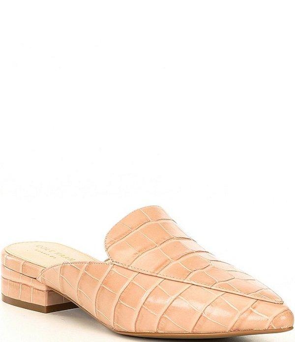 コールハーン レディース ヒール シューズ Piper Croc Block Heel Mules Mahogany Rose