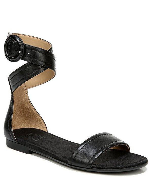 ナチュライザー レディース サンダル シューズ Talia Leather Ankle Wrap Sandals Black Leather