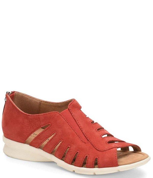 コンフォーティバ レディース サンダル シューズ Parker Suede Leather Slip On Shoe Red