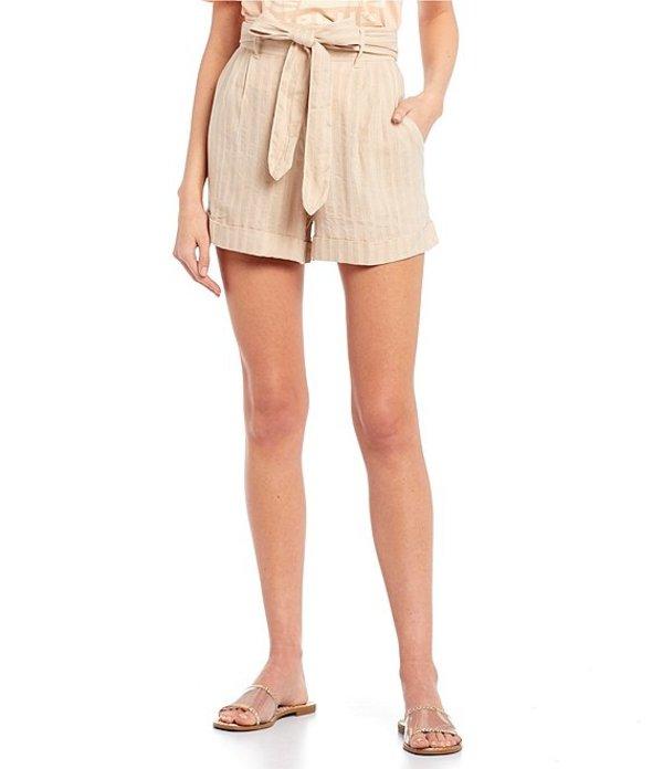 リップカール レディース ハーフパンツ・ショーツ ボトムス The Nomadic High Rise Belted Waist Cuffed Shorts Bone