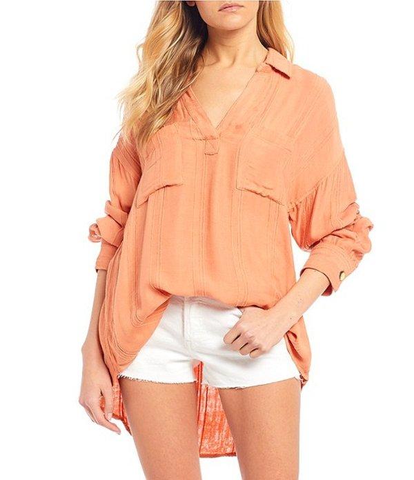 リップカール レディース シャツ トップス Sunrise Stripe Shirt Peach