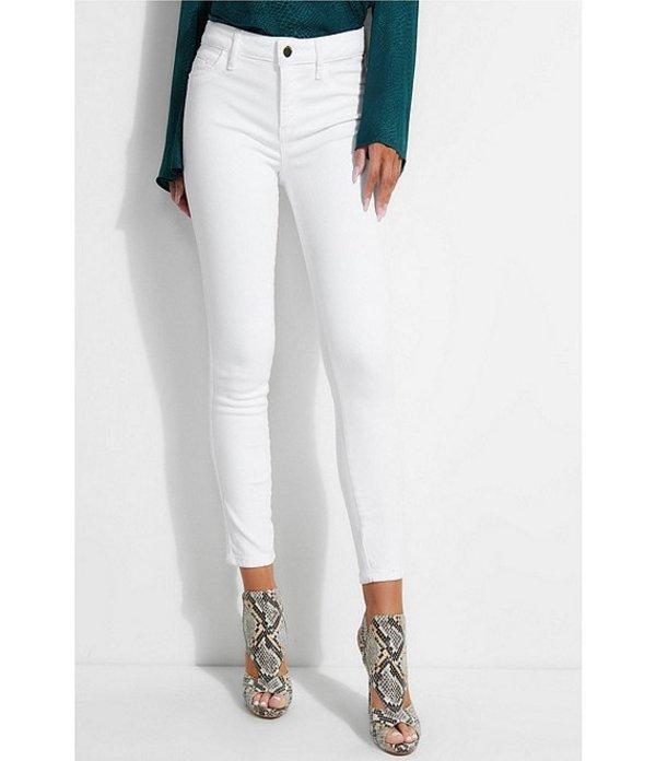 ゲス レディース デニムパンツ ボトムス Gilded Mid Rise Sexy Curve Cropped Skinny Jeans Optic White