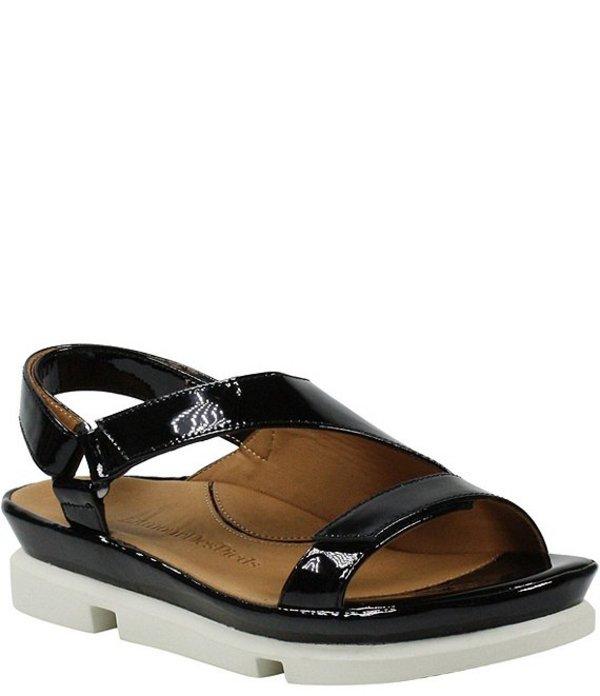 ラモールドピード レディース サンダル シューズ L'amour Des Pieds Villarmosa Patent Leather Sandals Black Patent