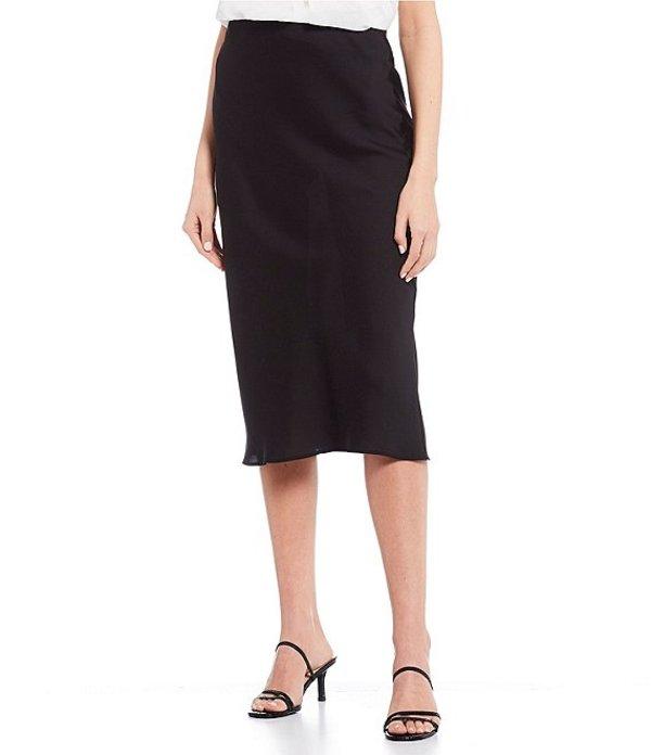 I.N.サンフランシスコ レディース スカート ボトムス Solid Satin Skirt Black