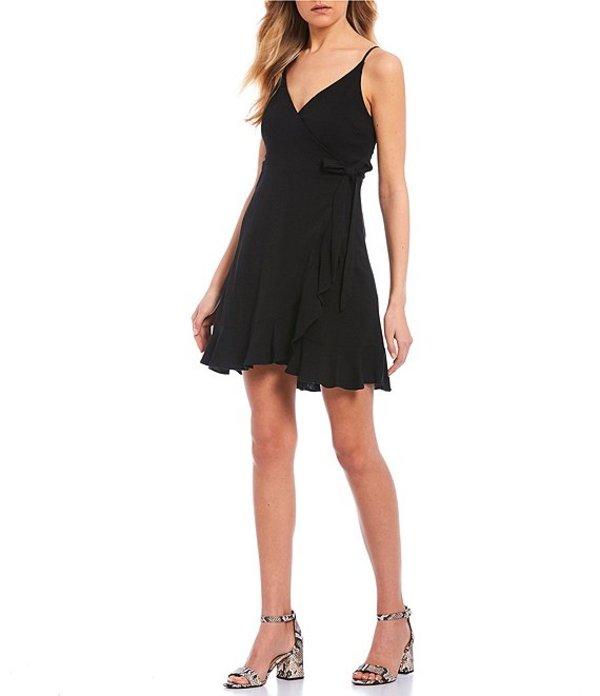 ジービー レディース ワンピース トップス Wrap Dress Black
