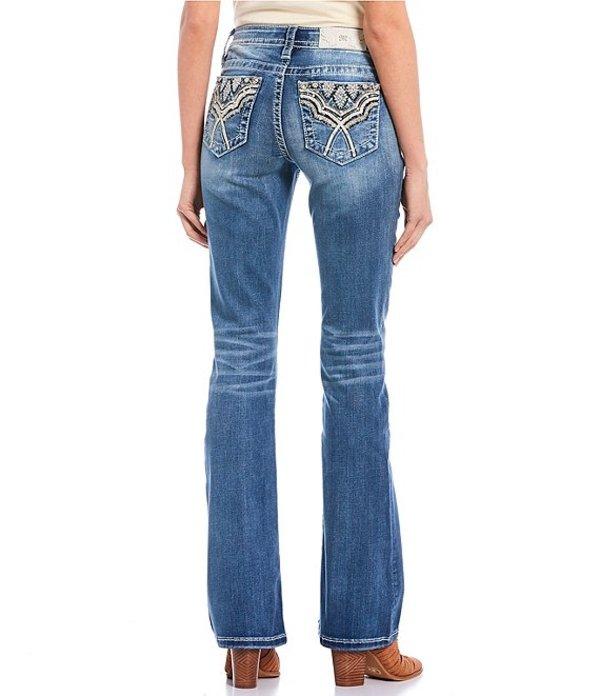 ミスミー レディース デニムパンツ ボトムス Mid Rise Embellished Pocket Bootcut Jeans Medium Blue