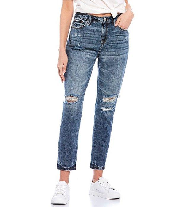 ミスミー レディース デニムパンツ ボトムス Girlfriend Destructed High Rise Girlfriend Jeans Medium Blue