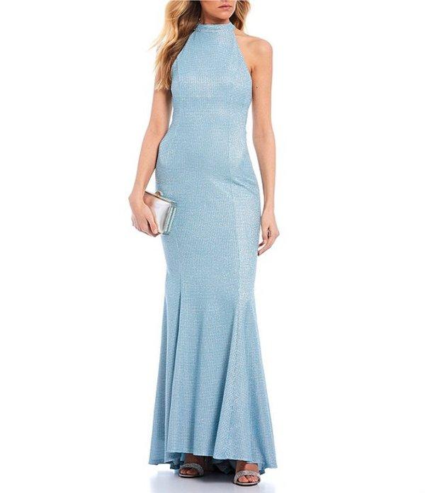 ミッドナイト ドール レディース ワンピース トップス High Neck Shimmer Shine Long Dress Powder Blue
