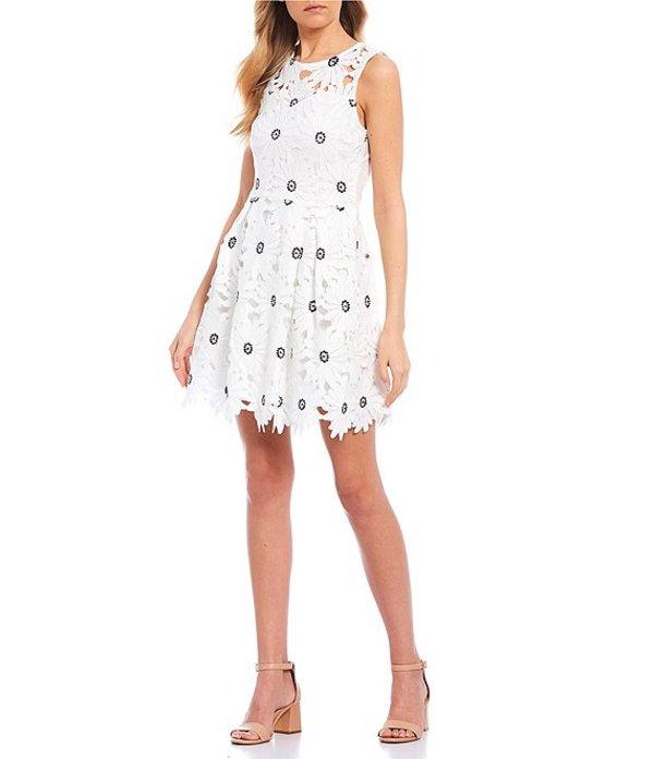 ジービー レディース ワンピース トップス Floral Lace Dress White/Black
