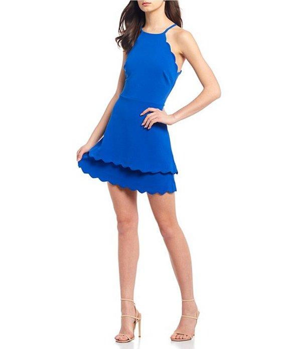 ビーダーリン レディース ワンピース トップス Scalloped Double Hem Fit-and-Flare Dress Cobalt Kiss