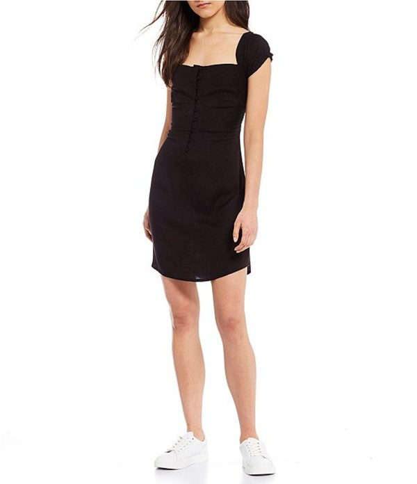 ボルコム レディース ワンピース トップス Window Cactus Puff Sleeve Dress Black