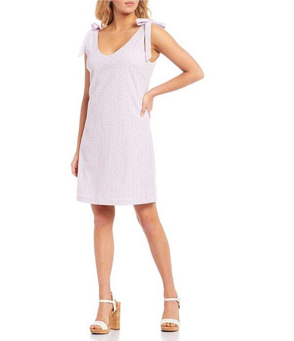 タカラ レディース ワンピース トップス Tie-Shoulders Eyelet Dress Lavender
