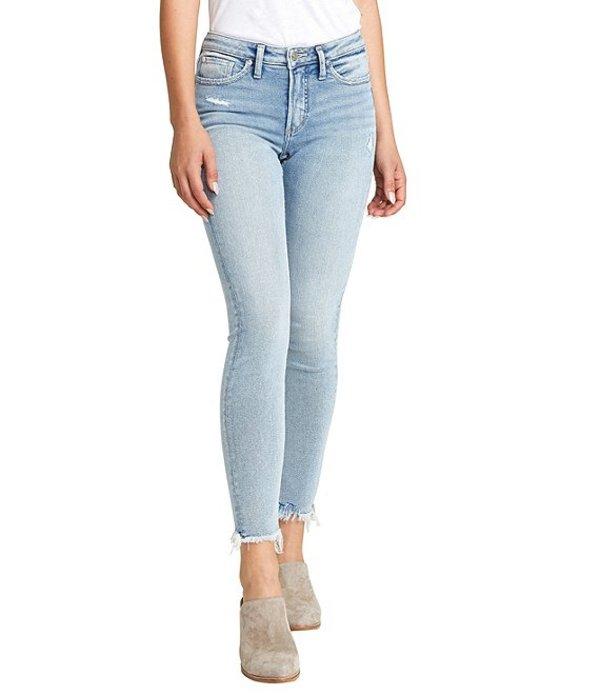 シルバー ジーンズ レディース デニムパンツ ボトムス Most Wanted Frayed Hem Skinny Jeans Indigo
