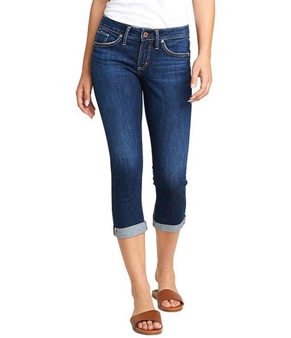 シルバー ジーンズ レディース ハーフパンツ・ショーツ ボトムス Suki Rolled Cuff Capri Jeans Indigo