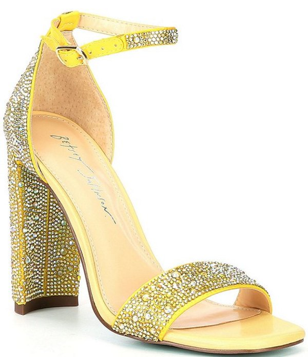 ベッツィジョンソン レディース サンダル シューズ Blue by Betsey Johnson Rina Rhinestone Embellished Dress Sandals Yellow