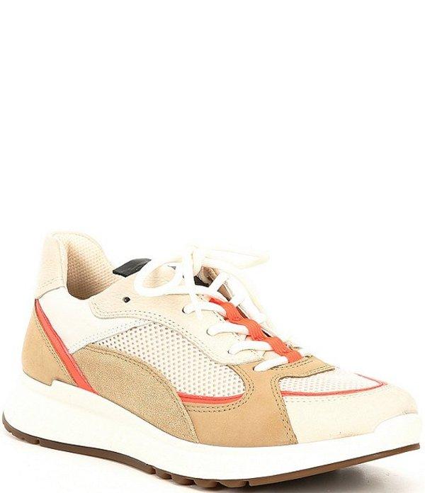 エコー レディース スニーカー シューズ Women's ST.1 Trend Sneakers Vanilla/Coral