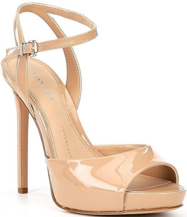 ジャンビニ レディース サンダル シューズ Camwren Patent Stiletto Platform Sandals Spanish Sand