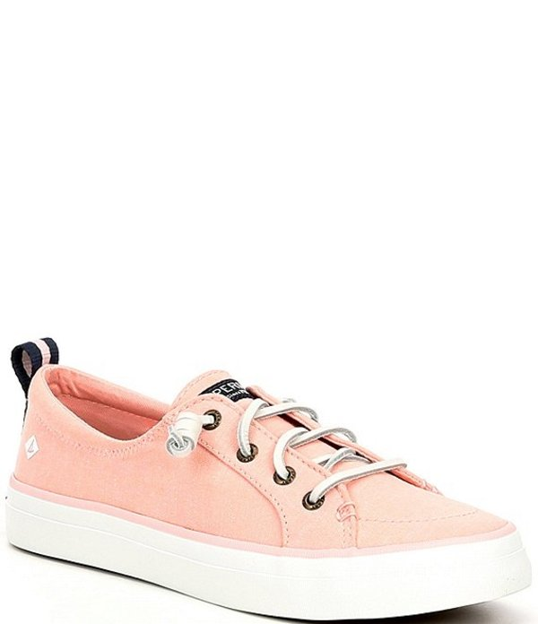スペリー レディース スニーカー シューズ Crest Vibe Linen Pastel Sneakers Rose Water