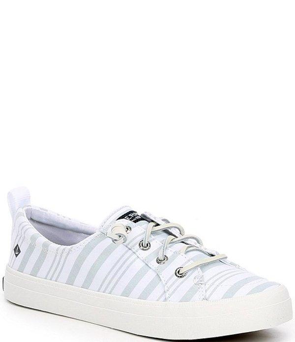 スペリー レディース スニーカー シューズ Crest Vibe Beach Stripe Sneakers Sage/White