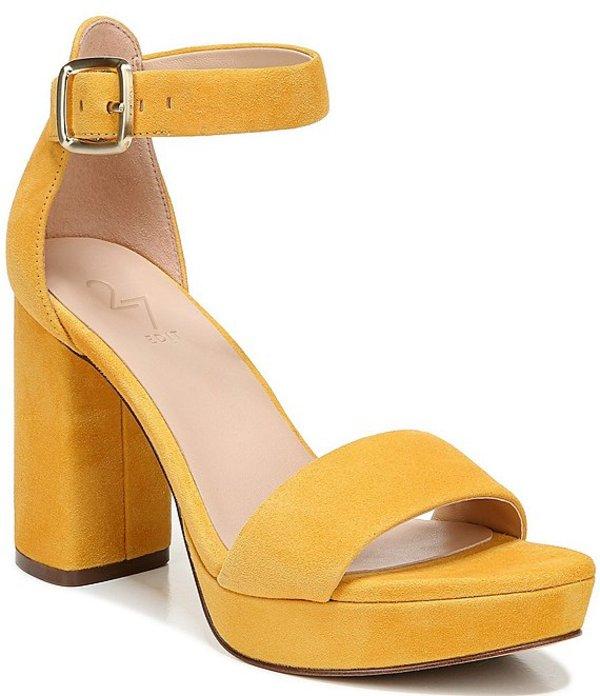 27エディット レディース サンダル シューズ Briar Suede Platform Block Heel Dress Sandals Pharaoh Gold