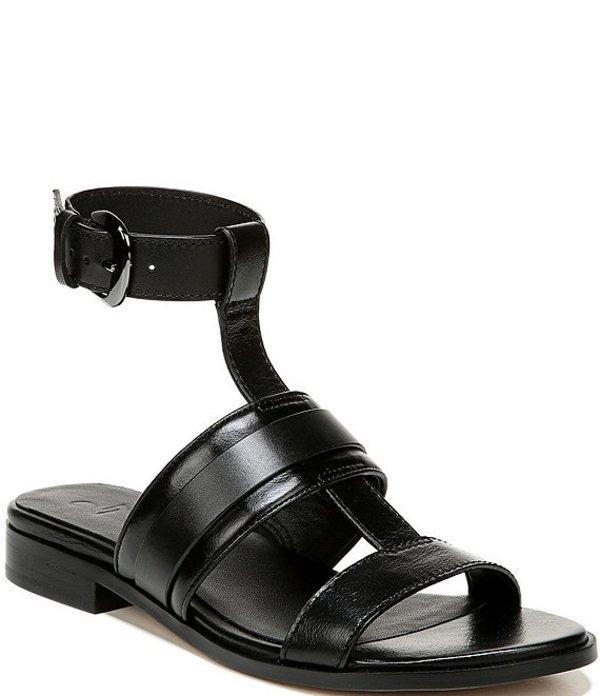 27エディット レディース サンダル シューズ Elva Banded Leather Ankle Strap Sandals Black Leather