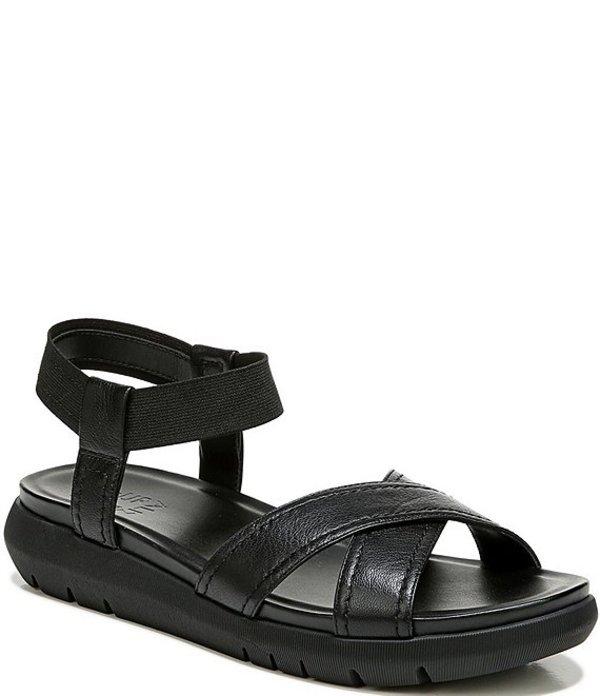 ナチュライザー レディース サンダル シューズ Lily Banded Leather Sport Sandals Black Leather