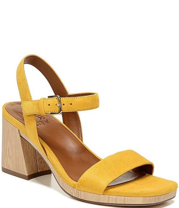 ナチュライザー レディース サンダル シューズ Rose Suede Quarter Strap Sandals Yellow Suede